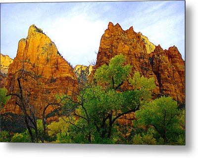 Zion In Autumn Metal Print by Dennis Hammer