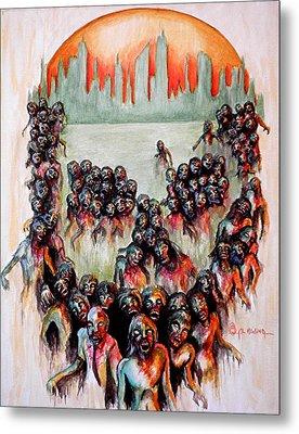Zombie Apocalypse Metal Print by Al  Molina