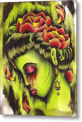 Zombie Girl No2 Metal Print by Lauren B