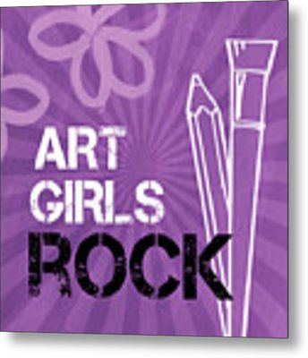 Art Girls Rock Metal Print by Linda Woods