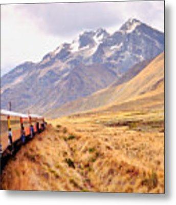 Crossing The Andes Metal Print by Nigel Fletcher-Jones