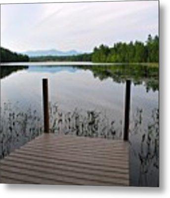 Izzys Pond With Dock Metal Print by AnnaJanessa PhotoArt