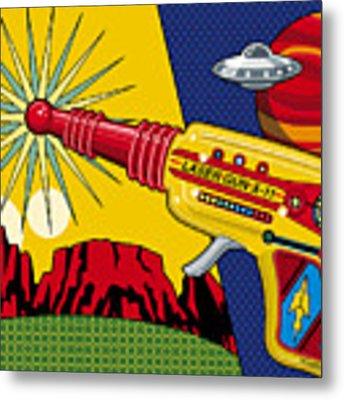Laser Gun Metal Print by Ron Magnes