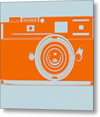 Orange Camera Metal Print by Naxart Studio