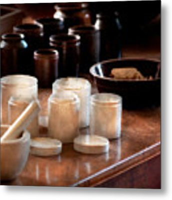 Pharmacist - Pestle And Cups Metal Print