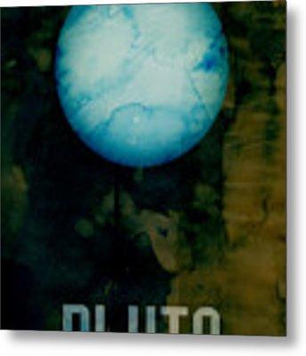 The Planet Pluto Metal Print by Michael Tompsett
