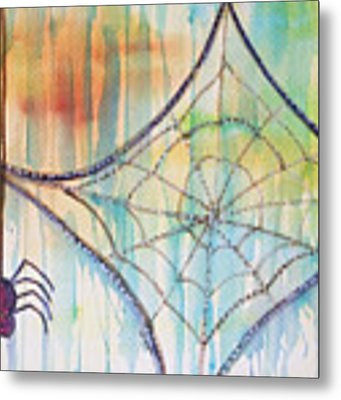 Water Web Metal Print by Angelique Bowman
