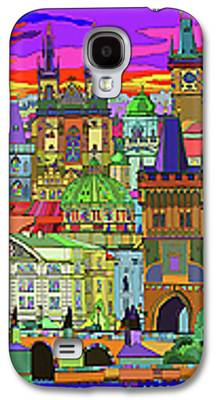 Town Mixed Media Galaxy S4 Cases