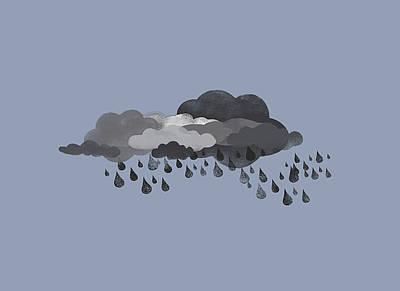 Rain Storms Digital Art Posters
