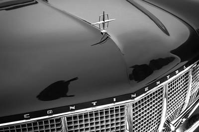 1956 Lincoln Continental Mark II Hess And Eisenhardt Convertible Grille Emblem - Hood Ornament Poster by Jill Reger