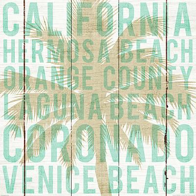 Bon Voyage California Palm Poster