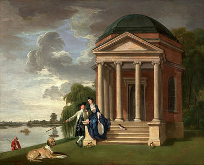 David Garrick And His Wife By His Temple To Shakespeare Poster