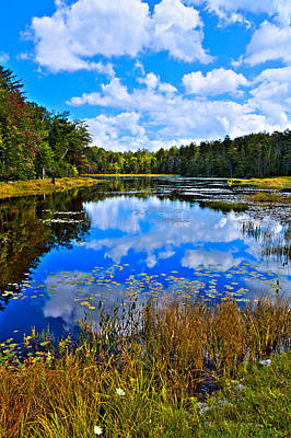 Early Autumn At Fly Pond - Old Forge Ny Poster