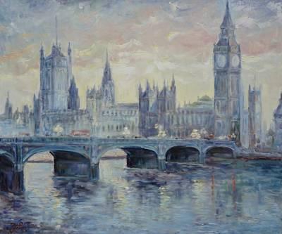 London Westminster Bridge Poster
