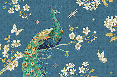 Ornate Peacock IIi Poster by Daphne Brissonnet