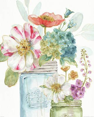 Rainbow Seeds Flowers Ix Poster by Lisa Audit