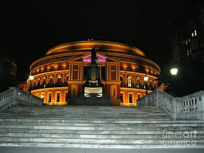 Royal Albert Hall At Night Poster by Bev Conover