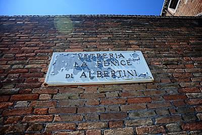 Street Sign In Murano Poster by Nano Calvo