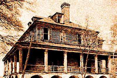 Poster featuring the digital art This Old House by Chuck Mountain