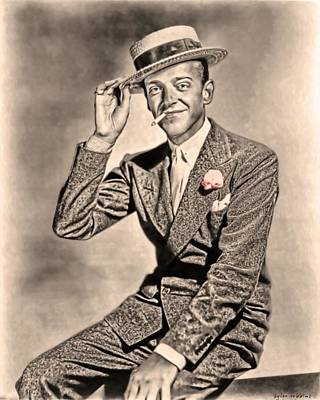 Poster featuring the painting Young Mr.astaire by Tyler Robbins