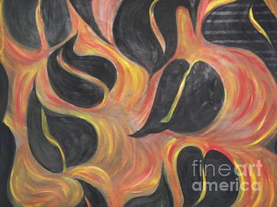 Aces Of Spades On Fire Poster by Rachel Carmichael