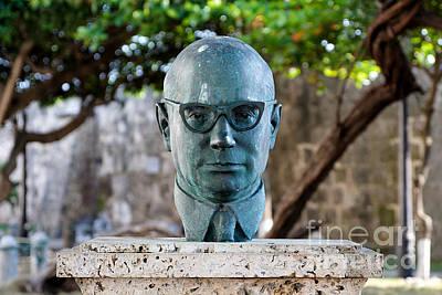 Bust Of Carlos Lleras Restrepo In Cartagena De Indias Colombia Poster by Jannis Werner