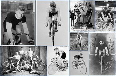 Early 20th Century Bike Racers  Poster