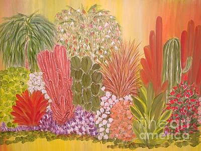 My Cactus Garden Poster by Rachel Carmichael