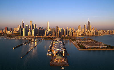 Chicago Skyline Poster by Jeff Lewis