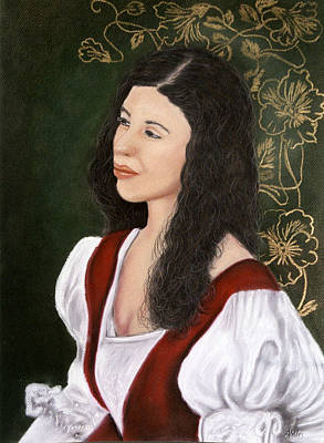 Poster featuring the pastel Lady Lauren by Jan Amiss