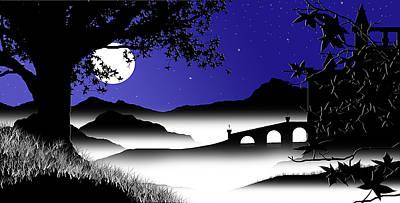 Moonlit Castle Poster