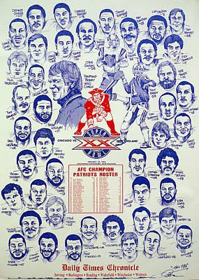 1985 New England Patriots Superbowl Newspaper Poster Poster