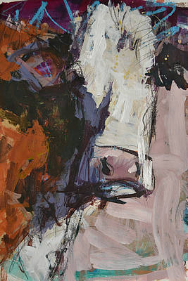 Modern Abstract Cow Painting Poster by Robert Joyner