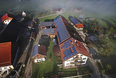 A Farm In Bavaria With Solar Poster