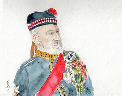 Poster featuring the painting A Scottish Soldier by Yoshiko Mishina