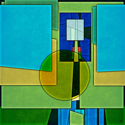 Abstract Shapes Color Two Poster by Gary Grayson