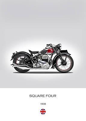 Ariel Square Four 1938 Poster