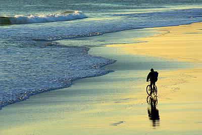 Beach Biker Poster by Carlos Caetano