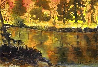 Bishop Creek Autumn Poster