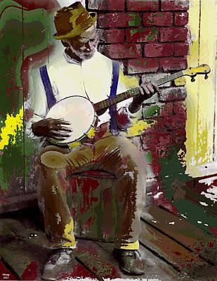 Black Banjo Man Poster