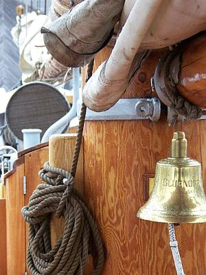 Bluenose Mast And Bell Poster by L Jaye Bell