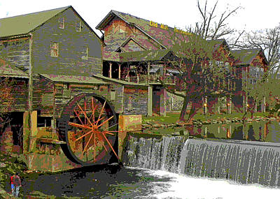 Poster featuring the photograph By The Old Mill Stream by Larry Bishop