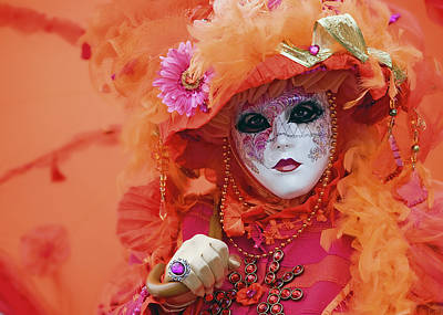 Poster featuring the photograph Carnival In Orange by Stefan Nielsen