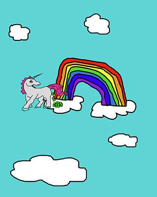 Cash Crap Unicorn Poster by Jera Sky