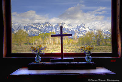 Chapel With A View Poster by Charles Warren