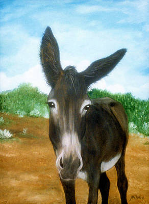 Poster featuring the painting Chimayo Mule by Jan Amiss