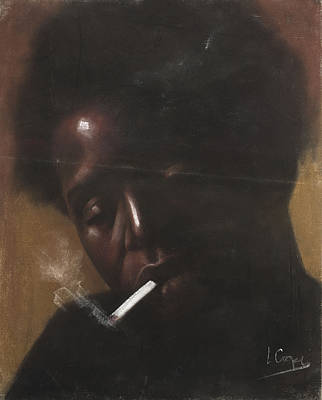Cigarette Smoker Poster by L Cooper
