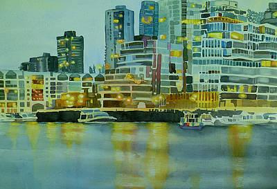 City Lights Poster by Sandrine Pelissier