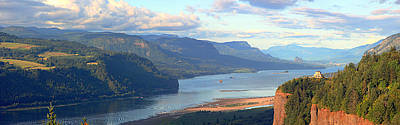 Columbia River Gorge Panorama. Poster by Gino Rigucci