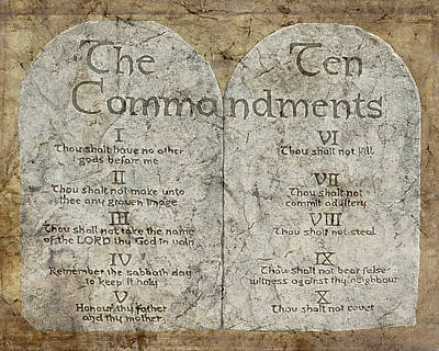 Commandments Poster by Cindy Wright